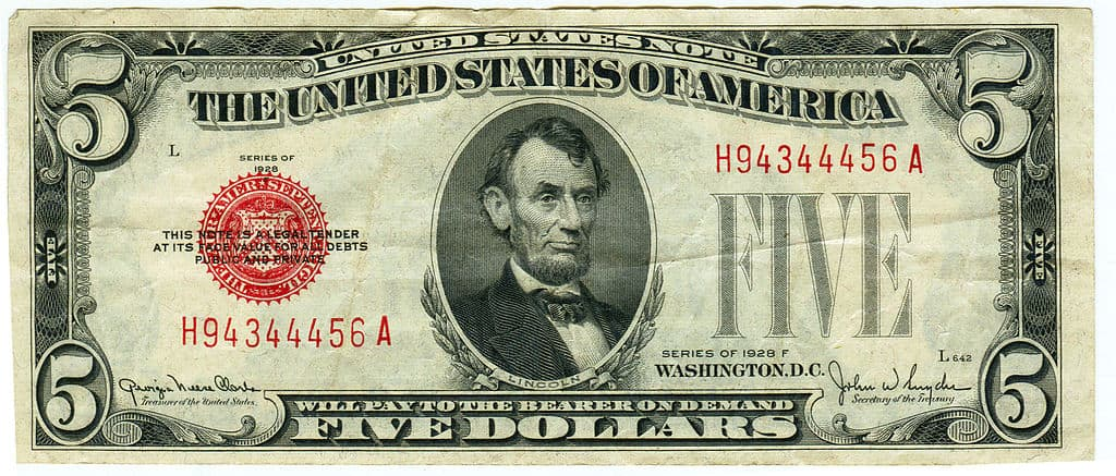 2013 dollar bill with star at end of serial number