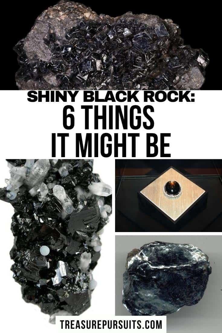 Shiny Black Rock