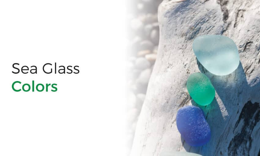 What are the various sea glass colors?