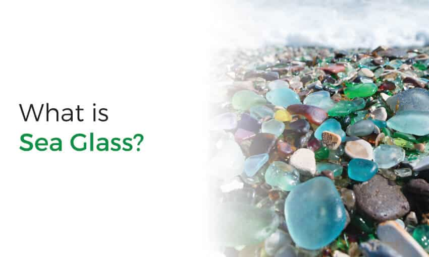 Explanation of what sea glass is.