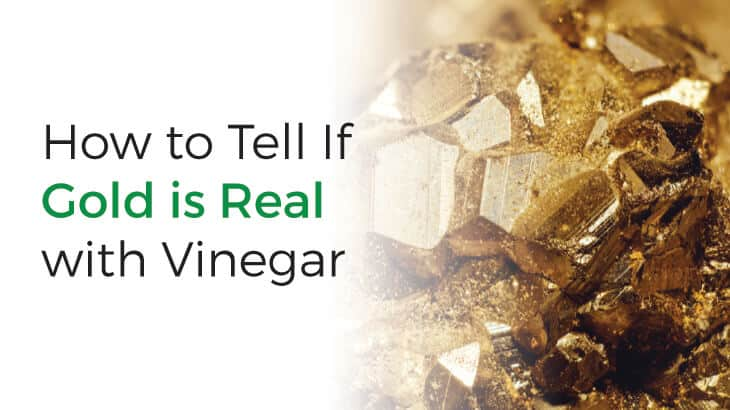 How to tell if gold is real using vinegar
