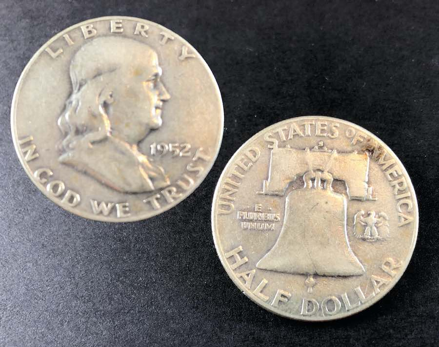 1952 Franklin Half Dollar with Reverse Bell