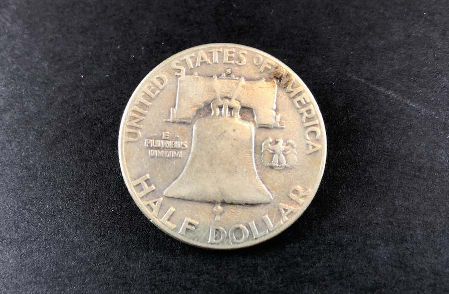 1952 S Ben Franklin Half Dollar