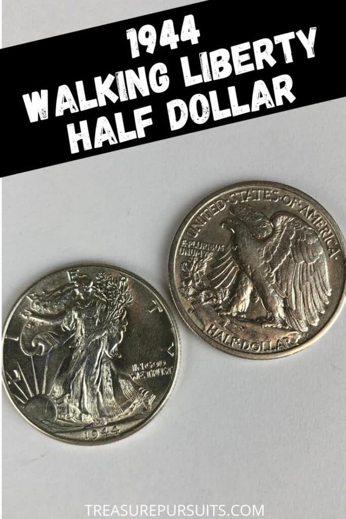 Due to several striking errors prior to 1944, the 1944 Half Dollars are often sought by collectors for their detail and high silver makeup. Known as the Walking Liberty Half Dollars, these coins featured a walking Lady Liberty on the front and an American Eagle on the reverse. These coins keep a steady value due to supply and rare pieces can be worth over $10,000. 1944 Half Dollar.