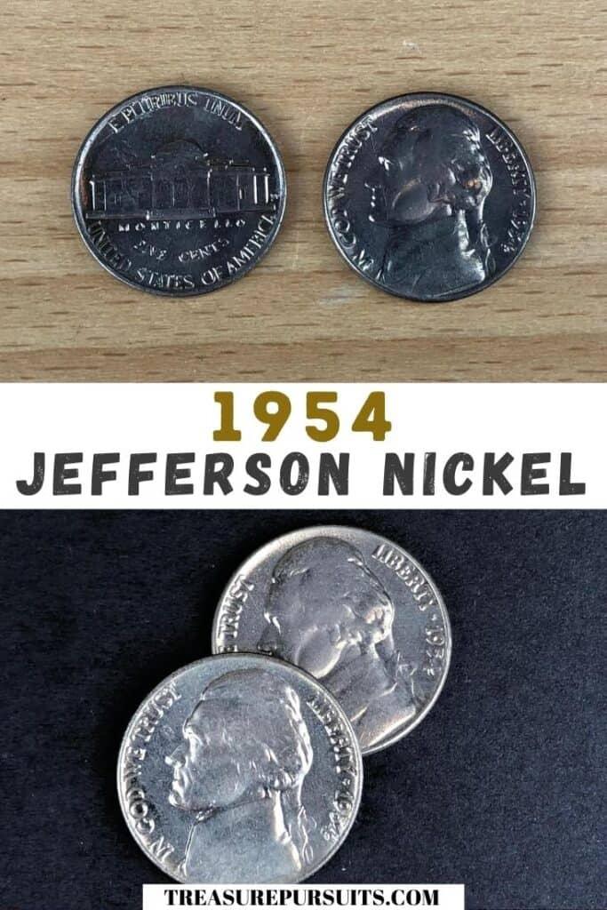 1954 Jefferson Nickel.