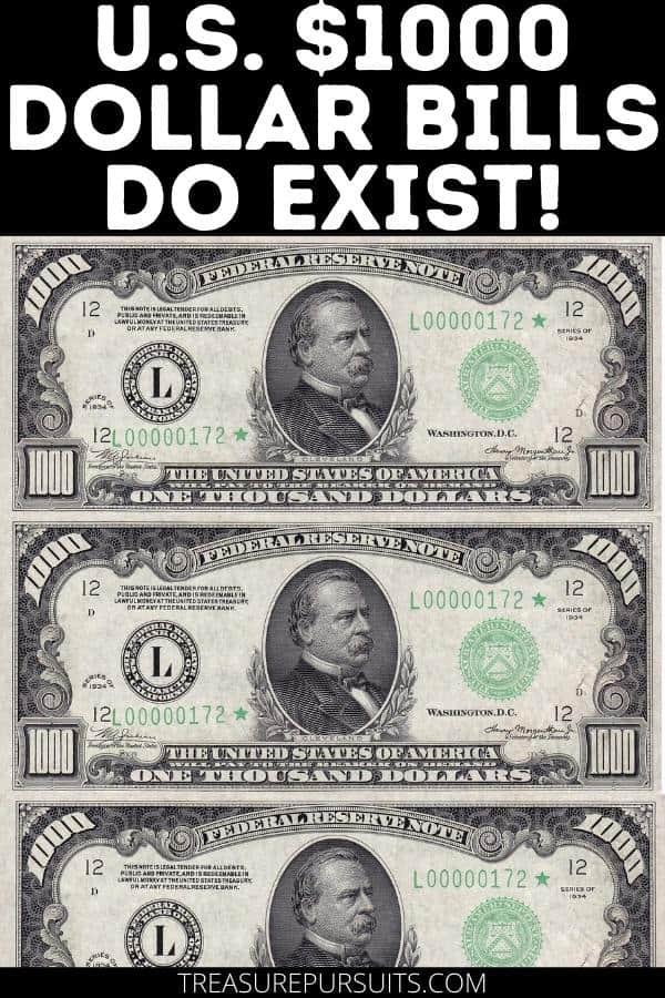 U.S. $1000 Dollar Bills Do Exist! | $1000 Bill Value and History