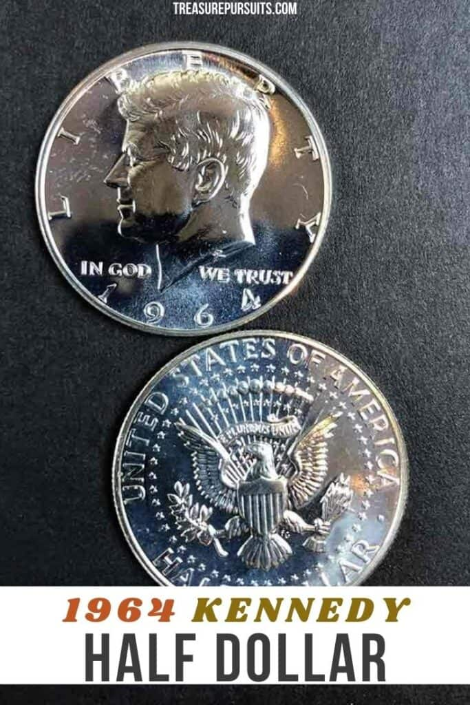 The 1964 Kennedy Half Dollar came about after President John F. Kennedy was assassinated in 1963. An act of Congress was required to change the design. It was decided to be put on the half dollar instead of the quarter dollar or one dollar coin despite the current design being only 15 years old. These coins are highly sought do to their first run of this kind and their high silver content. Currency. Coin collecting. 1964 Kennedy Half Dollar