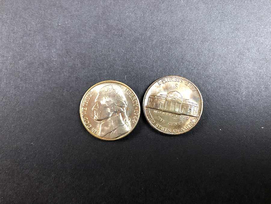 mint markings jefferson nickel